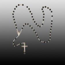 Black Agate Rosary