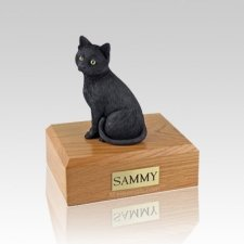 Black Cat Large Cremation Urn