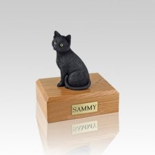 Black Cat Small Cremation Urn