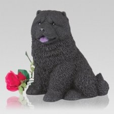 Black Chow Dog Cremation Urn