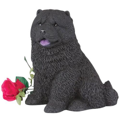 Black Chow Dog Cremation Urn