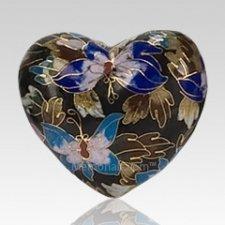 Black Copper Heart Keepsake Urn