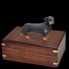 Black Dachshund Doggy Urns