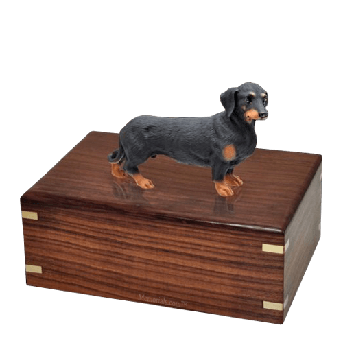 Black Dachshund Large Doggy Urn