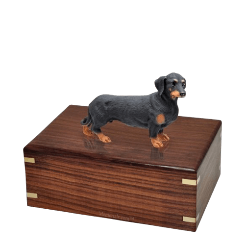 Black Dachshund Medium Doggy Urn