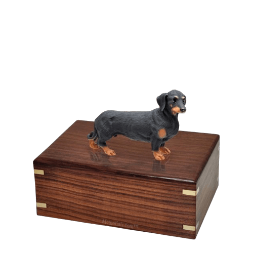 Black Dachshund Small Doggy Urn