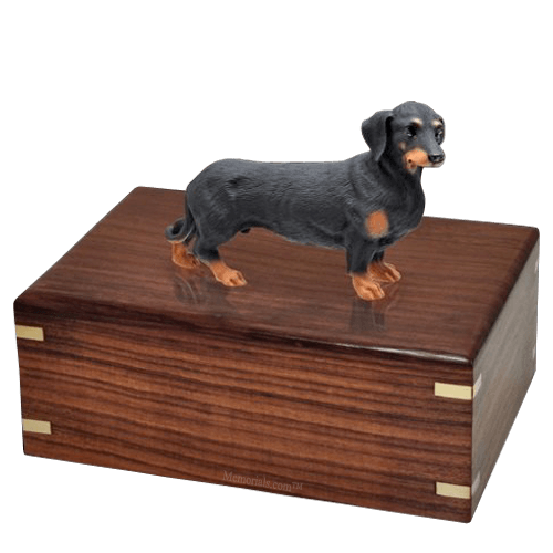 Black Dachshund Doggy Urns