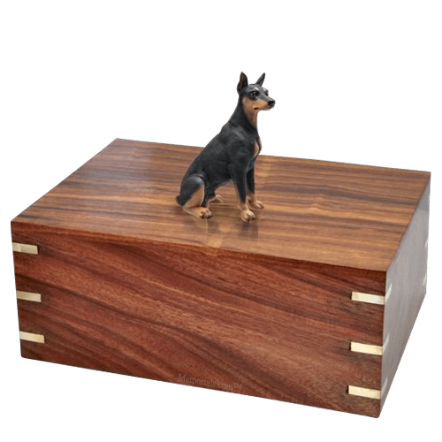 Black Doberman Doggy Urns