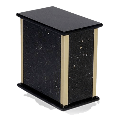 Black Galaxy Granite Cremation Urn