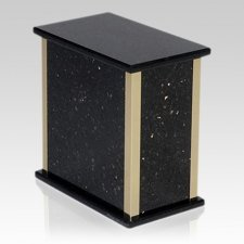 Black Galaxy Granite Cremation Urns