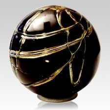 Black Gold Glass Cremation Urn