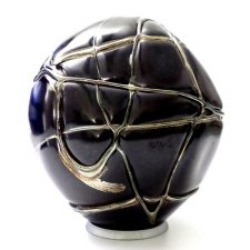 Black Gold Organic Glass Cremation Urn