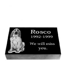 Black Granite Large Pet Grave Stone