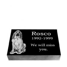 Black Granite Medium Pet Grave Stone