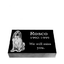 Black Granite Small Pet Grave Stone