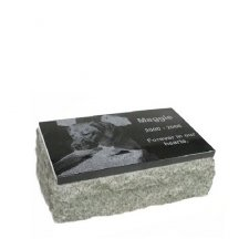 Black & Gray Granite Small Pet Grave Marker