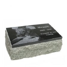 Black & Gray Granite X Large Pet Grave Marker