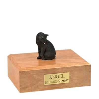 Black Grooming Large Cat Cremation Urn