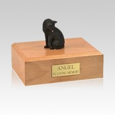 Black Grooming Medium Cat Cremation Urn
