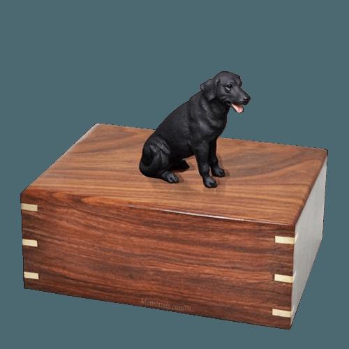 Black Labrador Large Doggy Urn