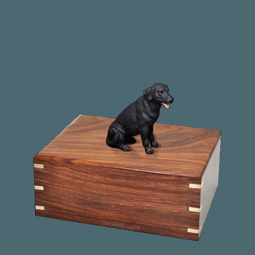 Black Labrador Small Doggy Urn