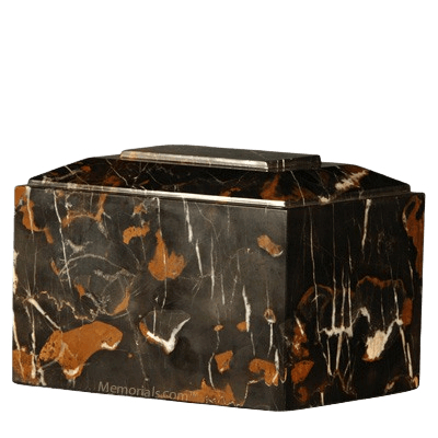 Black Orchid Infinity Marble Cremation Urn