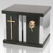 Black Peace Silver Urn For Two