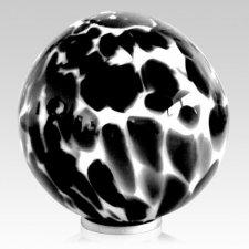 Black Pop Glass Cremation Urn