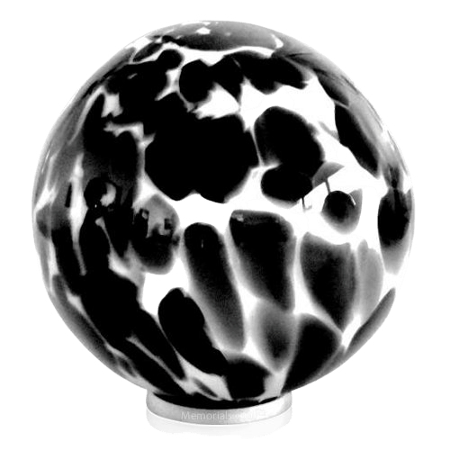 Black Pop Glass Cremation Urn