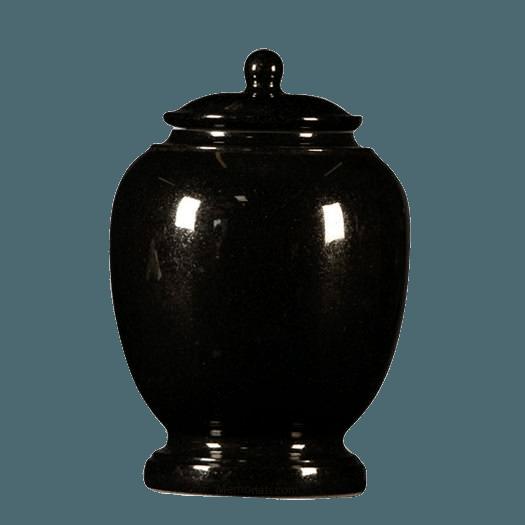 Black Satin Child Cremation Urn