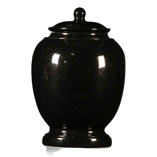 Black Satin Granite Cremation Urn
