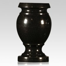 Black Satin Granite Vase