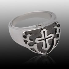 Black Shield Cremation Ring III