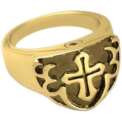 Black Shield Cremation Ring II