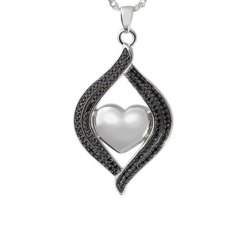 Black Swan Cremation Pendant