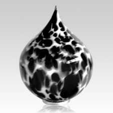 Black Tear Glass Cremation Urn