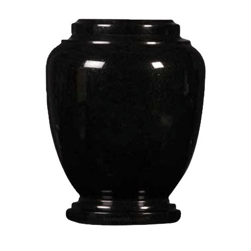 Black Traditional Granite Cremation Urn