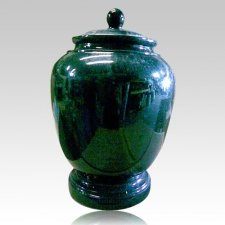 Black Green Classic Granite Cremation Urn