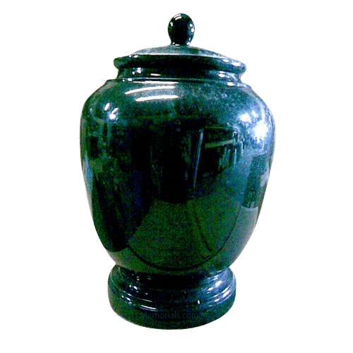 Black Green Classic Marble Cremation Urn