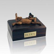 Bloodhound Laying Large Dog Urn