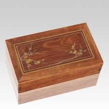 Blooming Wood Cremation Urns