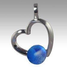 Blue Amore Cremation Ash Pendant