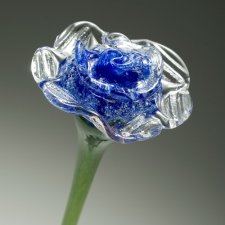 Blue Blossom Glass Cremation Keepsake