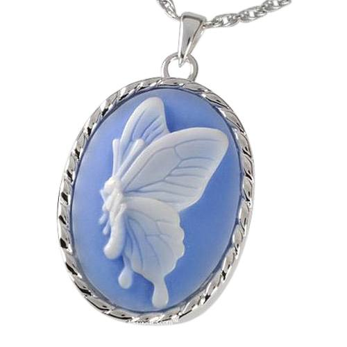 Blue Butterfly Cremation Pendant III