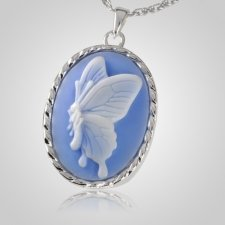 Blue Butterfly Cremation Pendant