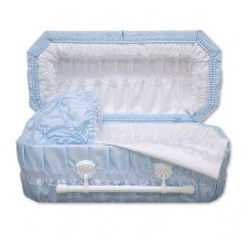Blue Carriage Small Child Casket