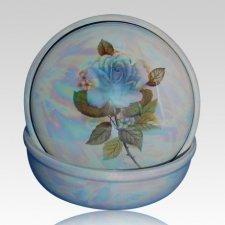 Blue Ceramic Keepsake Urn
