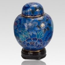 Blue Copper Keepsake Urn