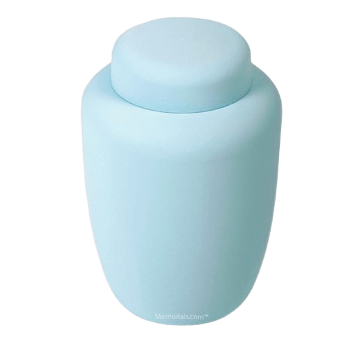 Blue Cornstarch Biodegradable Urn