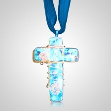 Blue Cross Cremation Ashes Pendant